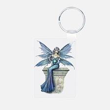 Blue Celeste transparent f Keychains