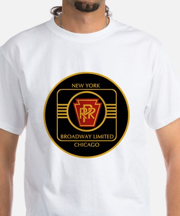 Pennsylvania Railroad, Broadway l White T-Shirt