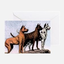 3 great danes shoulder bag copy Greeting Card