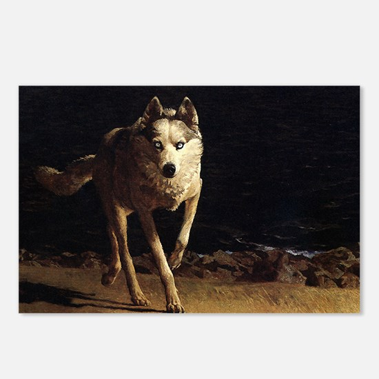 wolf dog by andrew wyeth  Postcards (Package of 8)