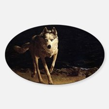 wolf dog by andrew wyeth shoulder b Bumper Stickers