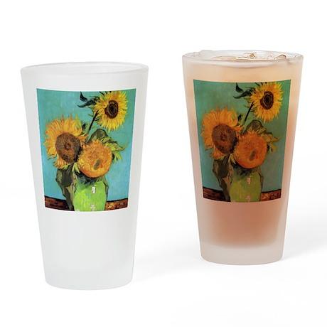 Pillow VG 3 Sunflowers Drinking Glass