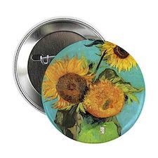 """Pillow VG 3 Sunflowers 2.25"""" Button"""