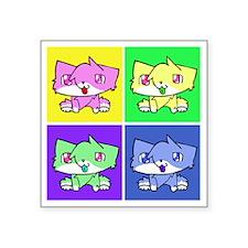 """kira cat Square Sticker 3"""" x 3"""""""
