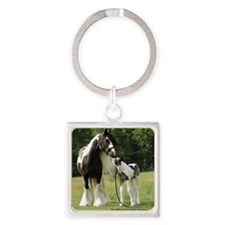 Dated with foal final Square Keychain