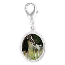 Dated with foal final Silver Oval Charm