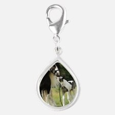 Dated with foal final Silver Teardrop Charm
