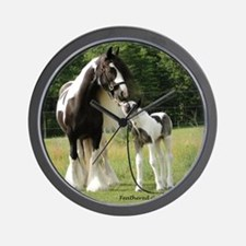 Dated with foal final Wall Clock