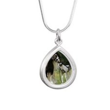 Dated with foal final Silver Teardrop Necklace
