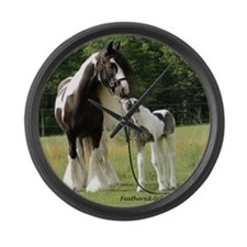 Dated with foal final Large Wall Clock