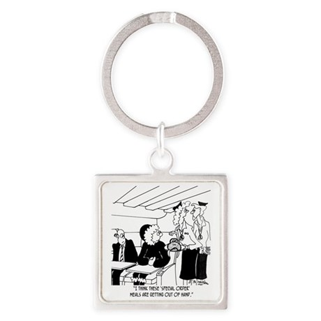 3425_eskimo_cartoon_BH Square Keychain