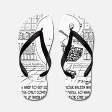 5401_whale_cartoon Flip Flops