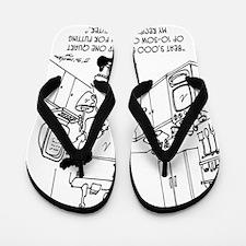 6214_cooking_cartoon Flip Flops