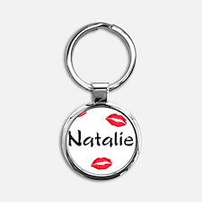 natalie Round Keychain