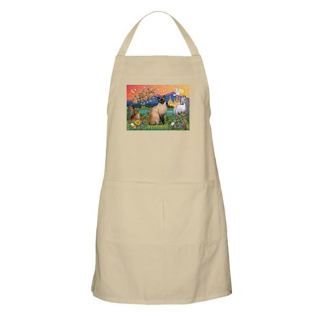 Siamese (1) in Fantasy Land BBQ Apron