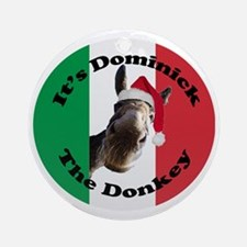 Its Dominick! (round) Round Ornament