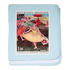 1970 France Degas Dancer Painting Postage Stamp ba