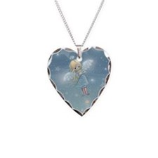 little star angel card Necklace Heart Charm