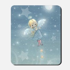 little star angel card Mousepad