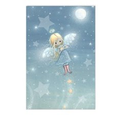 little star angel card Postcards (Package of 8)