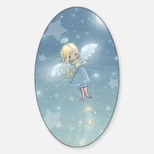 little star angel card Decal
