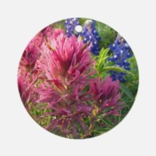texas bluebonnets and pinks Round Ornament