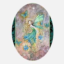 enchanted garden journal cp Oval Ornament