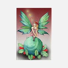 little christmas fairy card Rectangle Magnet