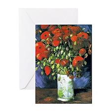 K/N VG Red Poppies Greeting Card