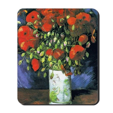 K/N VG Red Poppies Mousepad