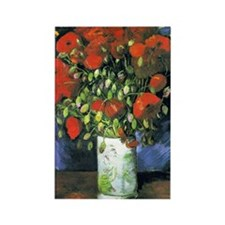 K/N VG Red Poppies Rectangle Magnet