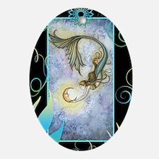 deep sea moon journal Oval Ornament