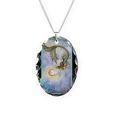 deep sea moon journal Necklace Oval Charm