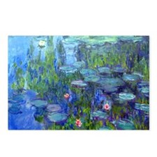 Laptop Monet WLilies Postcards (Package of 8)