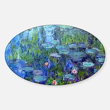 Laptop Monet WLilies Sticker (Oval)