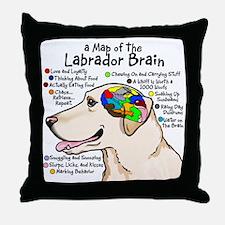 ylabbrain Throw Pillow
