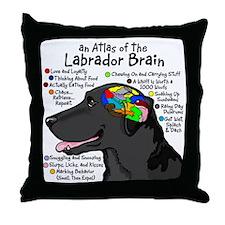 blklabbrain Throw Pillow