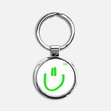 H2DoIt-square-white Round Keychain