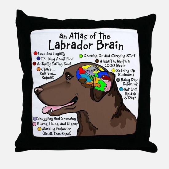 choclabbrain1a Throw Pillow