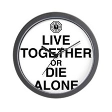 live-together-die-alone-light Wall Clock