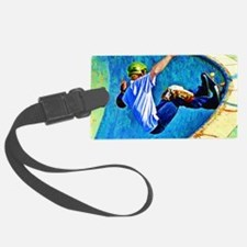 Skateboarding in the Bowl copy Luggage Tag