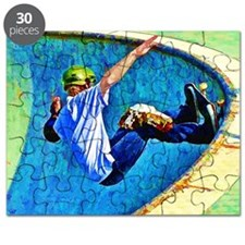 Skateboarding in the Bowl copy Puzzle
