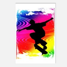 Skateboarding on Rainbow  Postcards (Package of 8)