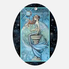jade moon journal Oval Ornament