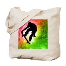 Skateboarder in a Psychedelic Cyclone Tote Bag