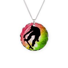 Skateboarder in a Psychedeli Necklace