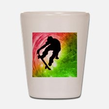 Skateboarder in a Psychedelic Cyclone Shot Glass