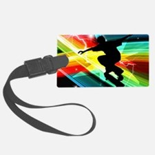 Skateboarder in Criss Cross Ligh Luggage Tag