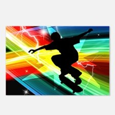 Skateboarder in Criss Cro Postcards (Package of 8)