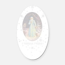 greeting_cards_4.5x6.5_inside_016 Oval Car Magnet